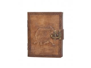 Vintage New Antique Design Handmade elephant Embossed Leather Journal Notebook Charcoal Color Journals Notebook & Sketchbook