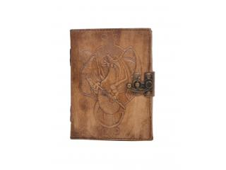Handmade Antique Design Dragon Embossed Leather Journal Charcoal Color Journals Notebook & Sketchbook