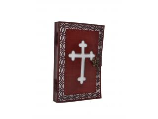 Vintage Genuine New Design Cut Work Leather Embossed Celtic Cross Journal Notebook Diary