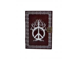 Handmade New Design Cut Work Leather Embossed Handmade Celtic Peace Of Sign Journal Notebook Diary
