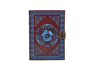 Antique New Tool Cut Work Handmade Celtic Eye Design Leather Journal Notebook 120 Pages Blank Unlined Paper Notebook & Sketchbook