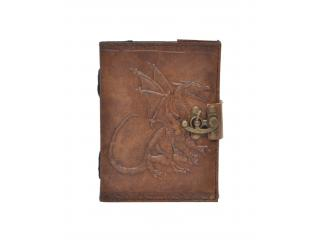 Genuine Handmade Leather Journal Dragon Embossed New Charcoal Color Notebook