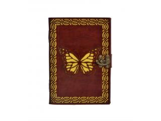 New Cut Work Handmade Antique Beautiful Butterfly Design Leather Journal Notebook 120 Pages Blank Unlined Paper Notebook & Sketchbook
