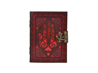 New Handmade Genuine Cut Work Leather Journal Beautiful Hamsa Hand Cutting Journal 120 Pages Notebook