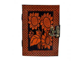 Flower Celtic Design Book Of Shadow Leather Journal Sketch Book Note Book