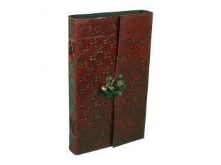 Handmade Fair Trade Extra Large Embossed Leather Journal Notebook Diary Note Book Journal