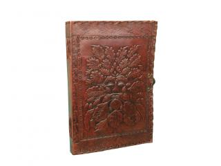 Embossed Green Man  Genuine Leather Journal Diary Handmade Instagram Photo Album Sketch Book Note Book Journal