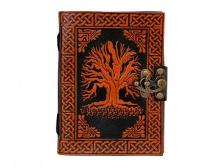 Celtic Tree Of Life Orange with Black Journal Note Book dairy