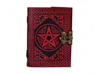 Vintage Look Distressed Leather Journal Embossed Pentacle Journal Sketchbook Diary Brown Christmas gifts