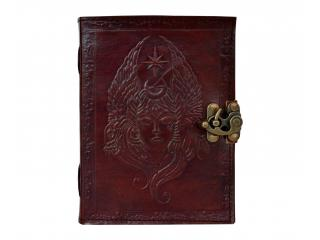 Portable Nautical Retro Notebook Refillable Leather Bound Journal Travel Brown
