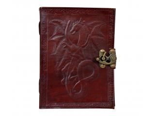 Dragon Tale Vintage Buffalo leather journal diary Cotton paper Handmade India