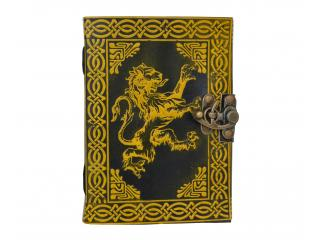 Celtic Lion Leather Journal Yellow with Black Color Note Book