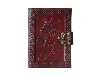 Dragon Notebook Embossed Design Notebook & Sketchbook Journals Handmade Leather Diary