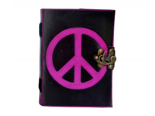 Peace Sign Color Handmade Leather Notebook Journal Diary Sketchbook Notepad