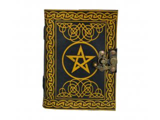 Pentagram Handmade Book of Shadows Genuine Vintage Leather Journal Parchment Paper Diary Notebook Celtic India Wholesale