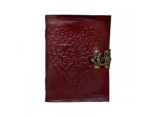 Celtic Embossed Heart Love Leather Journal Blank Dairy Note Book Handmade Paper 120 Pages