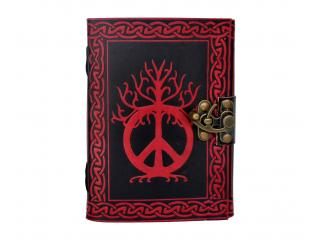 Peace Of Sign Book Shadow Leather Celtic Color Handmade Leather Journal