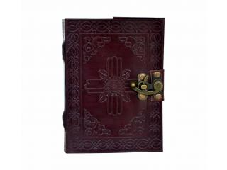 Unlined Journal Travel Blank Notebook For Men Women  120 Pages with Hand Embossed Exquisite Celtic Patterns