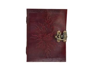 Leather Embossed Handmade Celtic Design Blank Dairy Note Book Journal