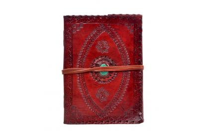 New Genuine Handmade Leather Journal Antique Design Embossed Diary