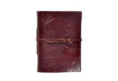 Vintage Handmade Leather Journal Celtic Embossed Tree Of Life Journal Notebook & Diary