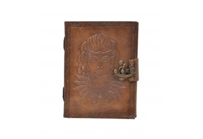 New Vintage Handmade Queen Embossed Vintages Blank Paper Notebook Leather Journal Diary & Sketchbook