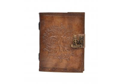 New Vintage Handmade Round Tree Of Life Embossed Vintages Blank Paper Notebook Leather Journal Diary & Sketchbook