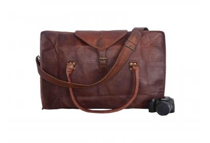Goat Leather Travel Luggage Bags