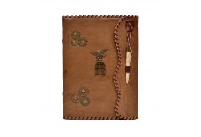 Genuine Handmade Leather Journal Wholesaler New Charcoal Color Antique Design Notebook