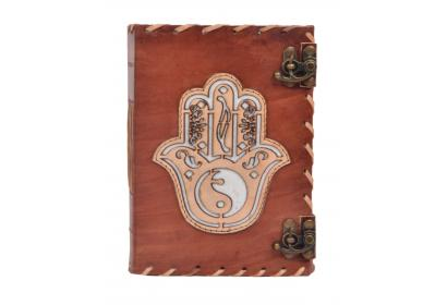 Leather Journal New Design Handmade Hamsa Look Design Side Stitching Leather Journal Notebook