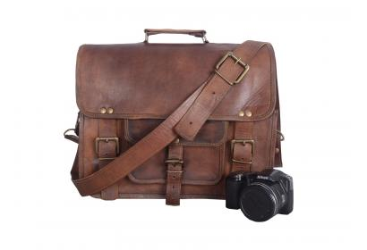 Laptop Brown Briefcase Bag