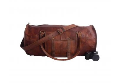 leather handmade travel bag