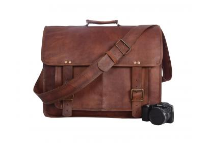 vintage messenger laptop bag