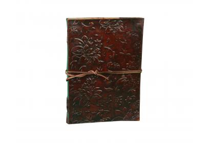 Leather Journal Diary Mens Day Organizer Planner garden flower Embossed New look Design Journals