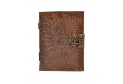 New Genuine Leather Journal Wholesaler Embossed Leaf Journal Notebook