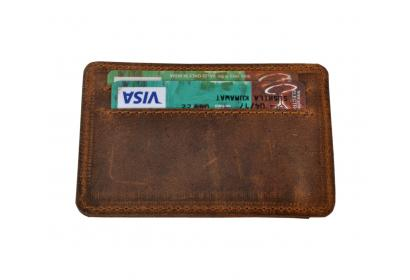 New Design Vintage Handmade Brown Color Hunter Leather Id/Credit Card Holder