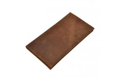 Handmade Brown Color Genuine Leather Men's Vintage Buffalo Leather Bifold Wallet Credit Card ID Holder Cash Coin Purse Clutch Handbag