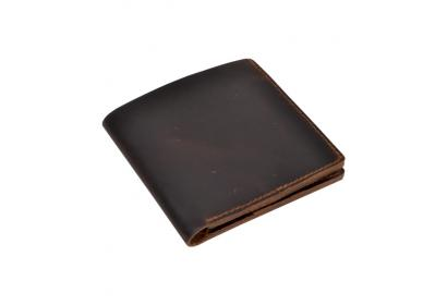 Handmade Genuine Buffalo Leather New Design Id/Credit Card holder Cash Wallet Bifold Money Clip Men Purse