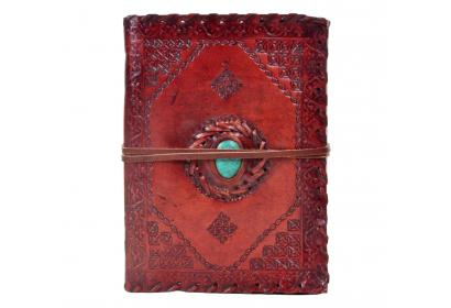 Handmade new design  turquoise stone paper leather journal diary & notebook
