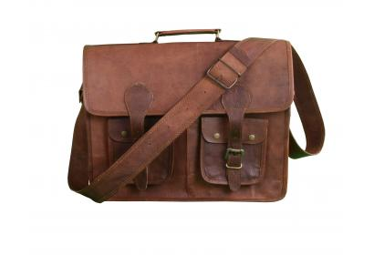 Vintage Goat Leather Messenger Bags