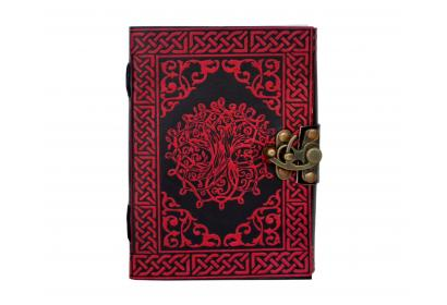 Book Of Shadow Embossed Leather Celtic Tree Of Life 120 Leaf Diary Journal with Clasp Dairy