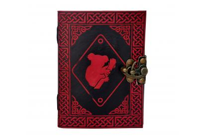 Celtic Color Panda Dairy Book Of Shadow Leather Journal Note Book Red With Black