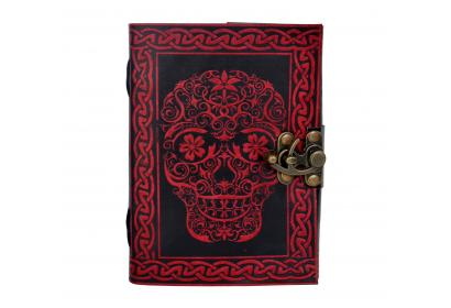 Celtic Handmade Leather Journal Note Book Blank Book Book Of Shadow Leather Dairy Red With Black Color