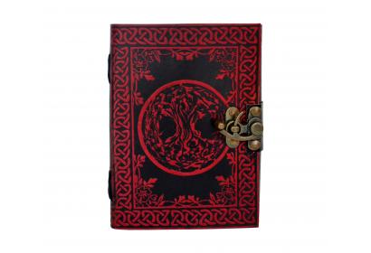 Celtic Red Color New Design TREE of LIFE Handmade Leather Pagan Wicca Journal Diary Book of Shadows Wholesaler India