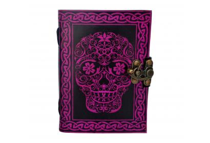 Day Of Dead Leather Blank Book Of Shadow Note Book Sketch Book Travel Dairy