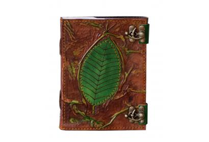 Antique Handmade Tree Of Leaf Leather Journal Sketchbook & Notebook
