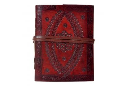 New design handmade embossed leather journal diary