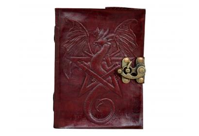 Embossed Dragon Beautiful Brown Color Leather Journal Note Book Dairy