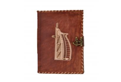 Vintage handmade Leather Journal Cut Work Style Burj Al Arab Design Notebook Blank Unlined Paper Journal Notebook
