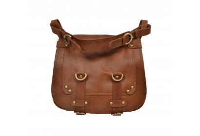 Handcraft's Pure Leather Vintage Buffalo Leather Brown Sling Bag | Cross Body Bag | Satchel Bag For Women